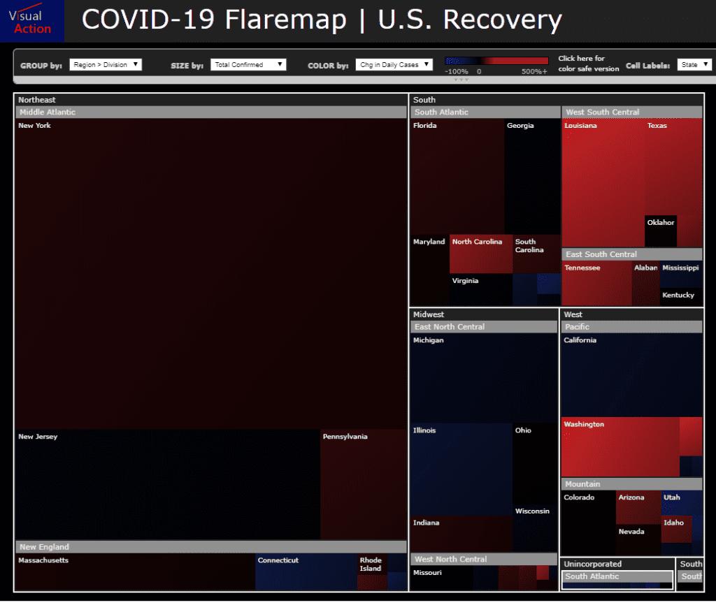 Covid19 - U.S. FlareMap